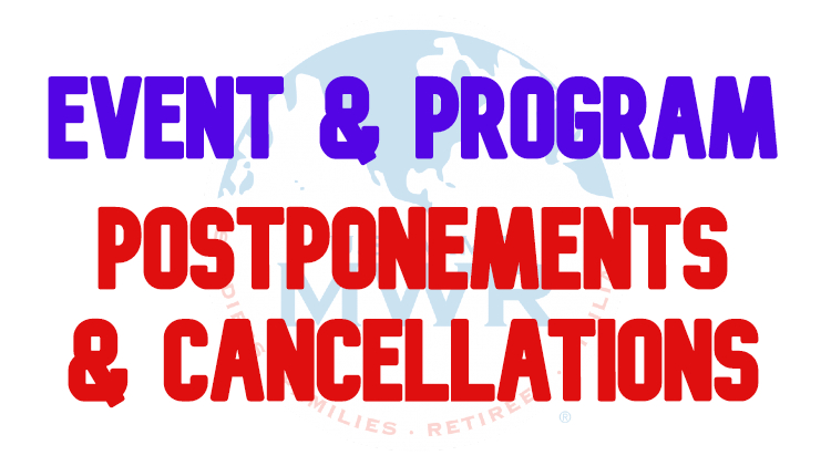 Event & Program Postponements/Cancellations
