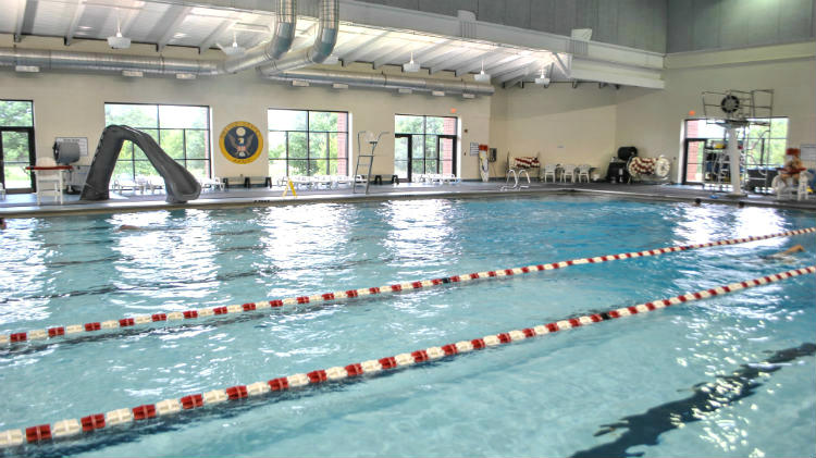indoor gym pool. Recreational Swimming, Pool Parties, Swimming Lessons And Lifeguard Training Are All Available Here. Indoor Gym